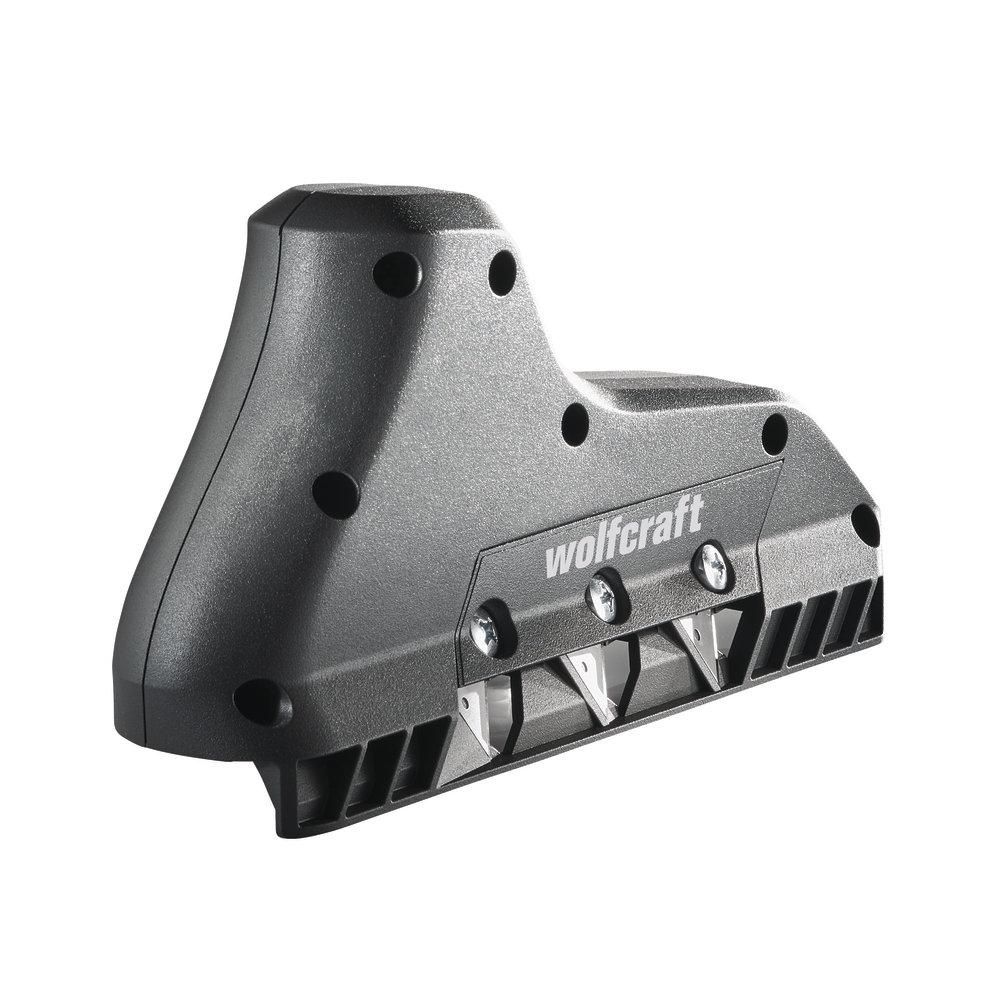 Wolfcraft hoblík na hrany sadrokartónu 3-trapézové čepele 4009000