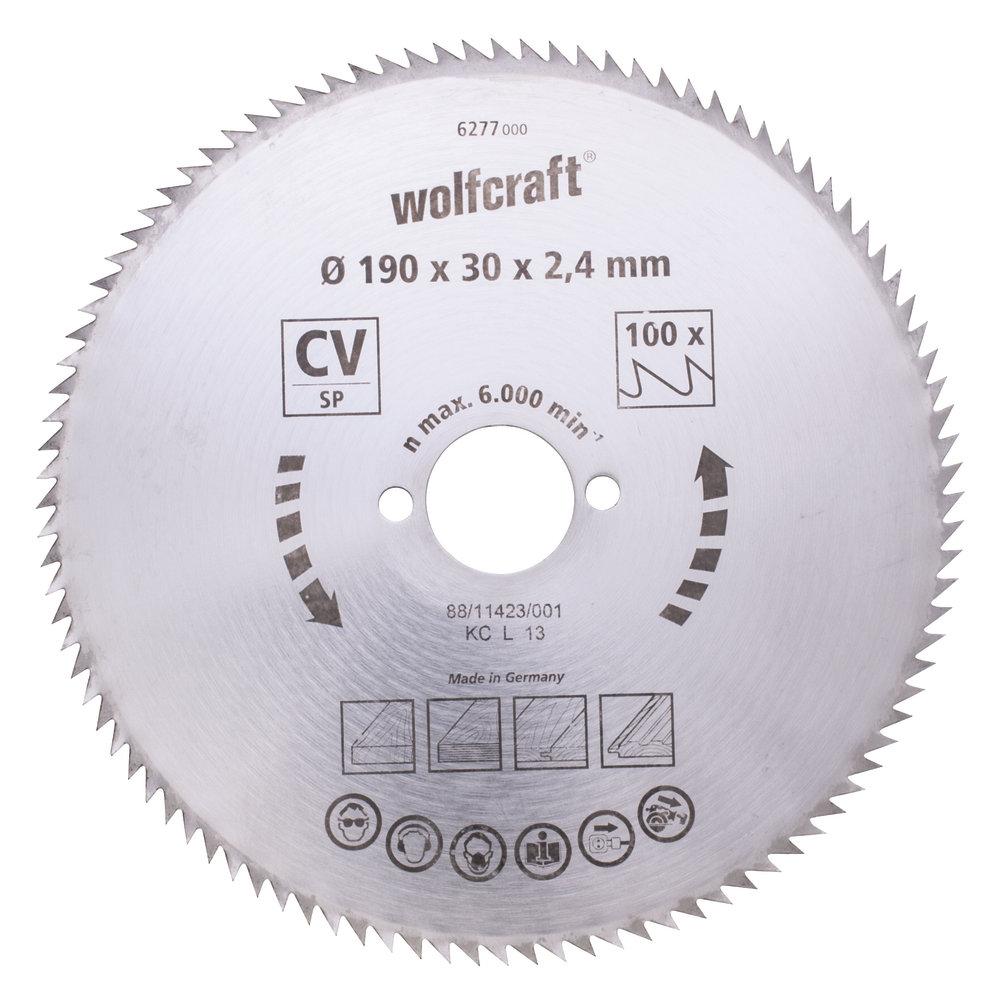 Wolfcraft pílový kotúč jemné rezy ø210x30 Z100 6281000