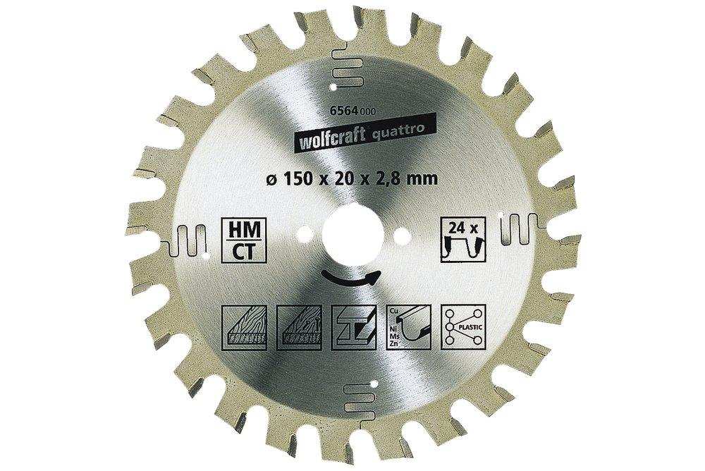 Wolfcraft pílový kotúč hrubé rezy ø210x30 Z34 6581000