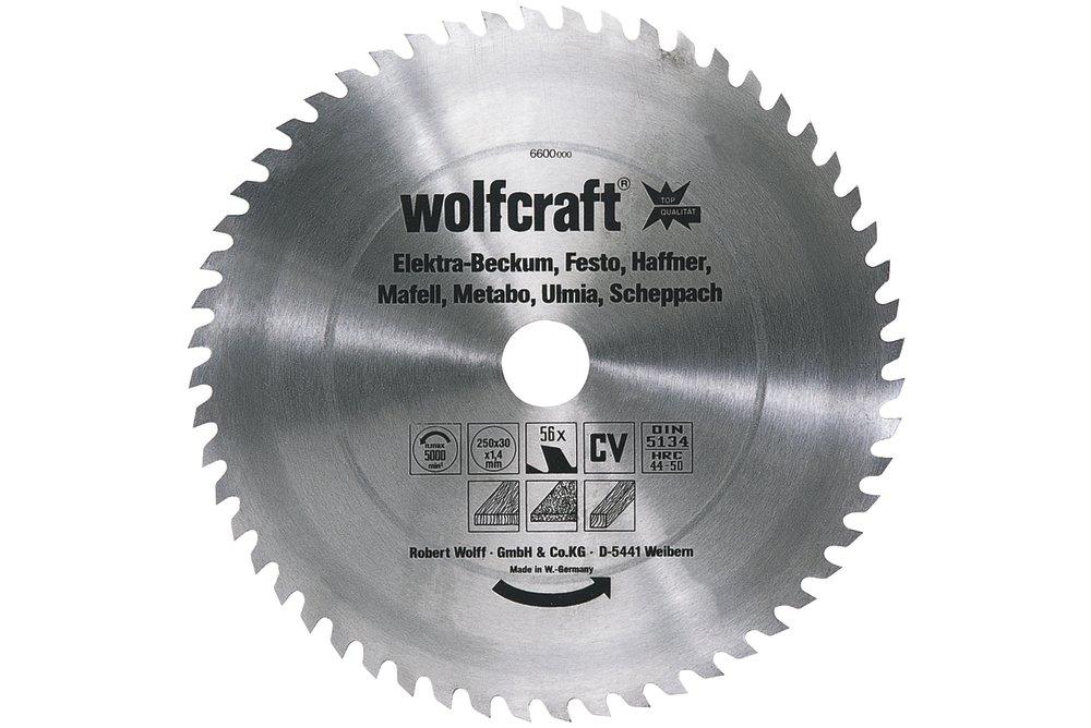 Wolfcraft pilovový kotúč pre cirkulárky stredne hrubé rezy ø400x30 Z56 6608000