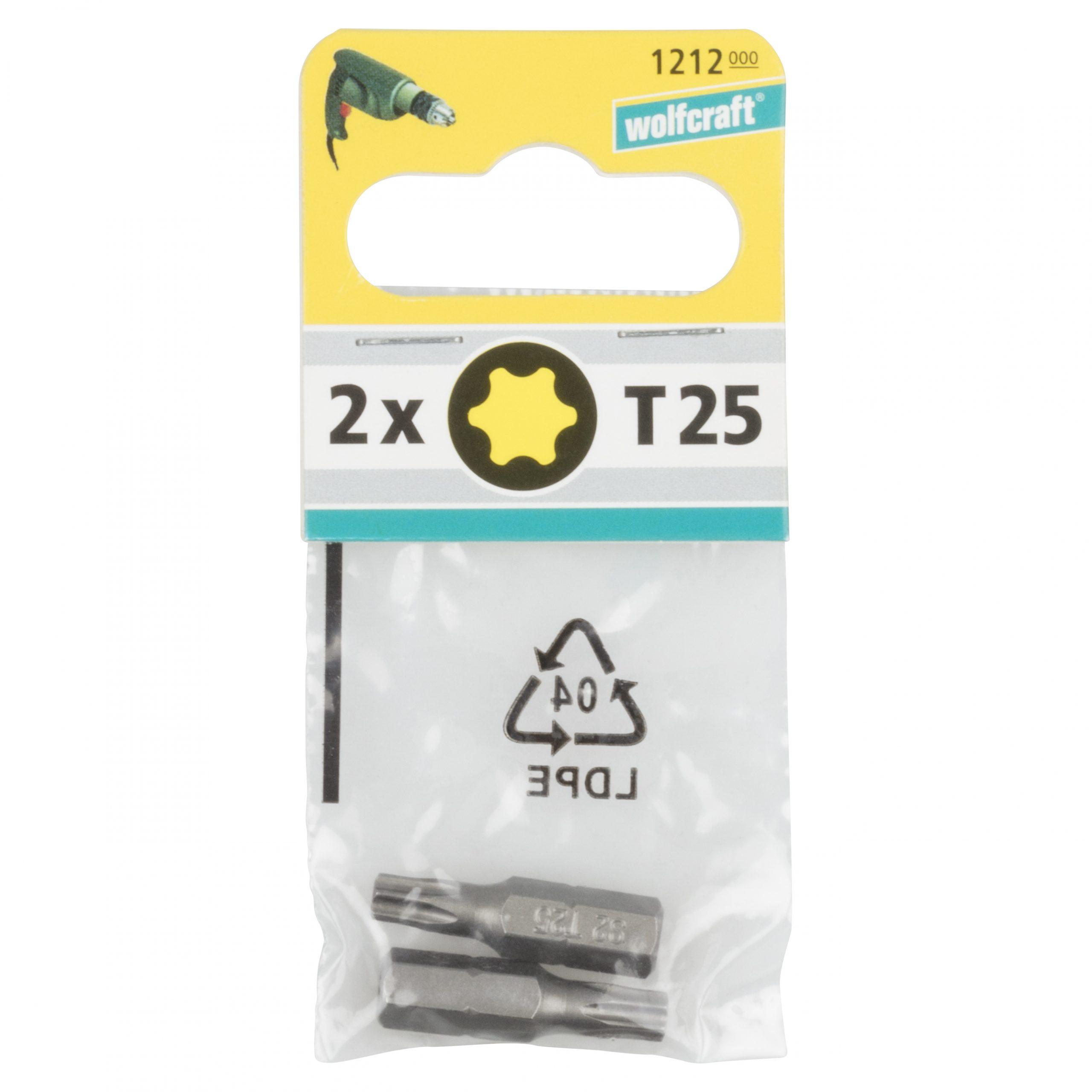 Wolfcraft Torx 2x bity, TX 25, 25mm 1212000