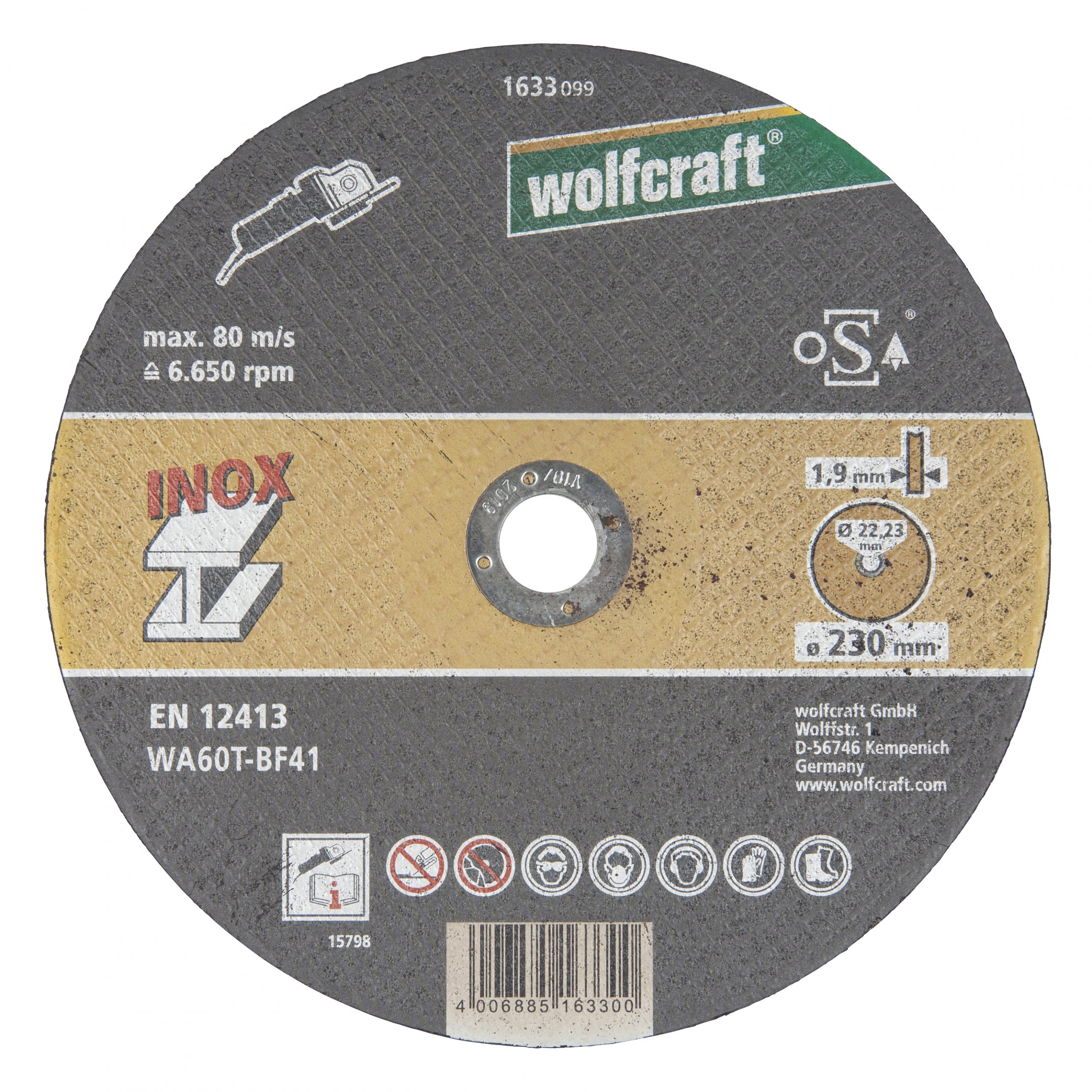 Wolfcraft rezací kotúč pre jemné rezanie 1633099