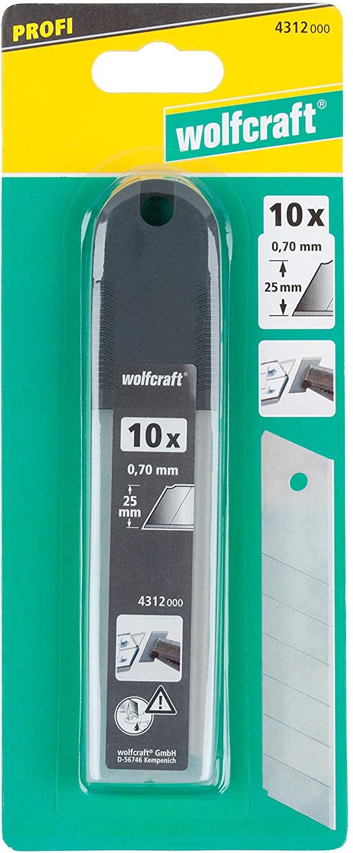 Wolfcraft 10 x profesionálne odlamovacie nože 4312000