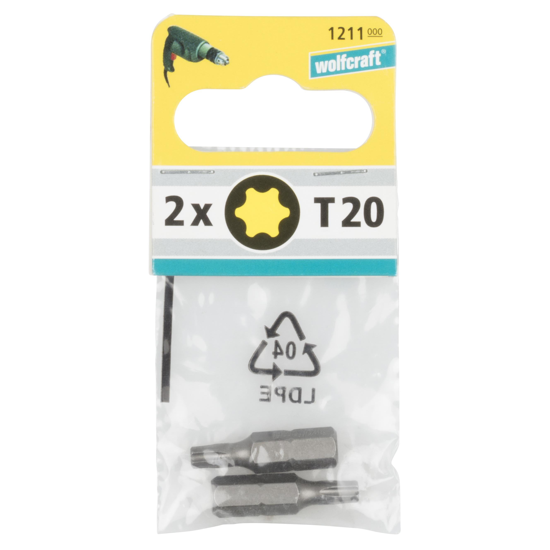 Wolfcraft Torx 2x bity, TX 20, 25mm 1211000