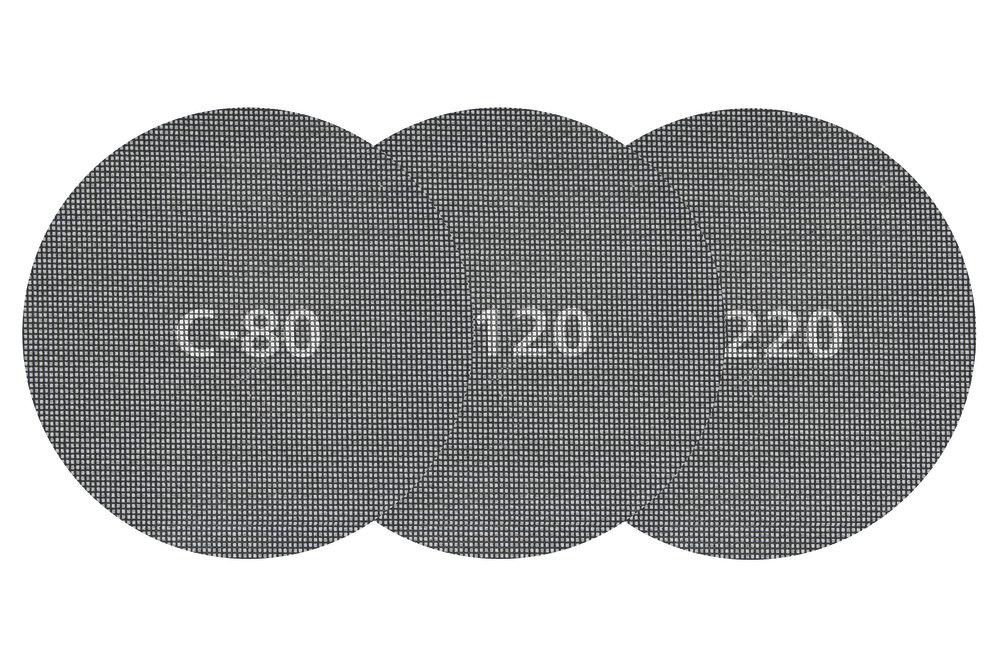 Wolfcraft 5 x samodržná mřížková plátna zrno 80,  ø 180 mm 5614000