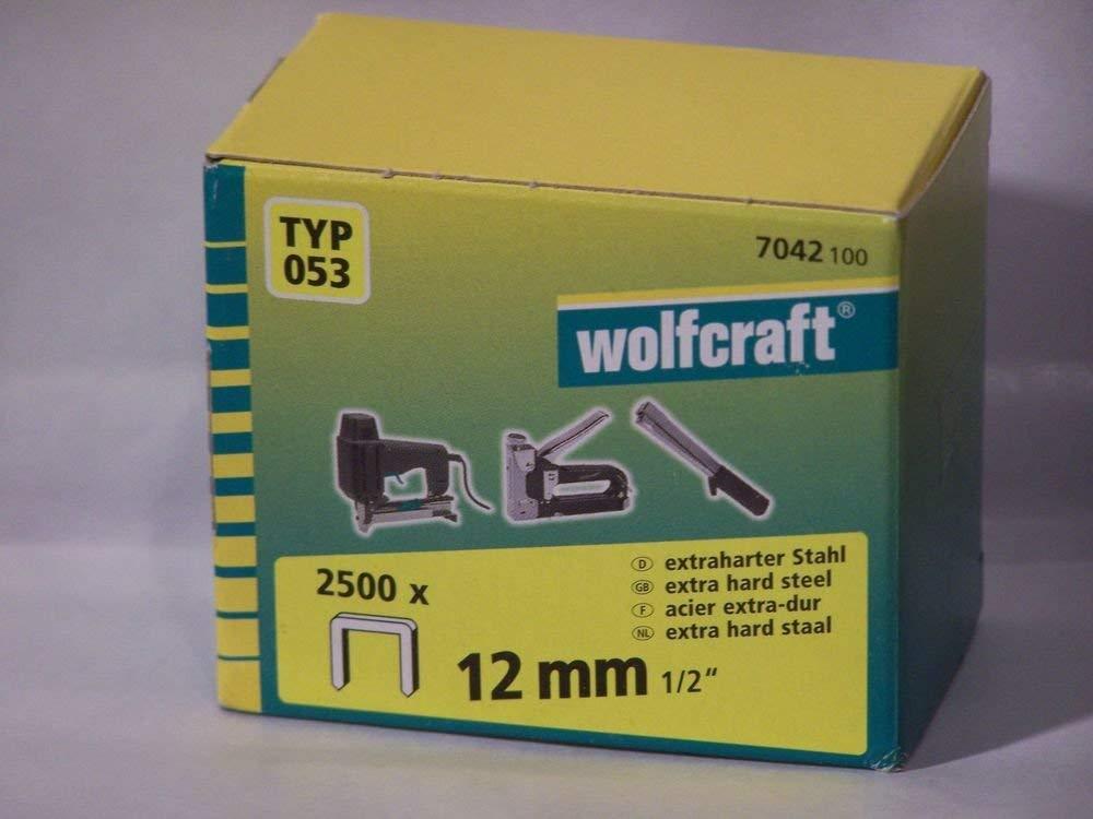 Wolfcraft Široké sponky do sponkovačky výška 12 mm 2500 ks 7042100