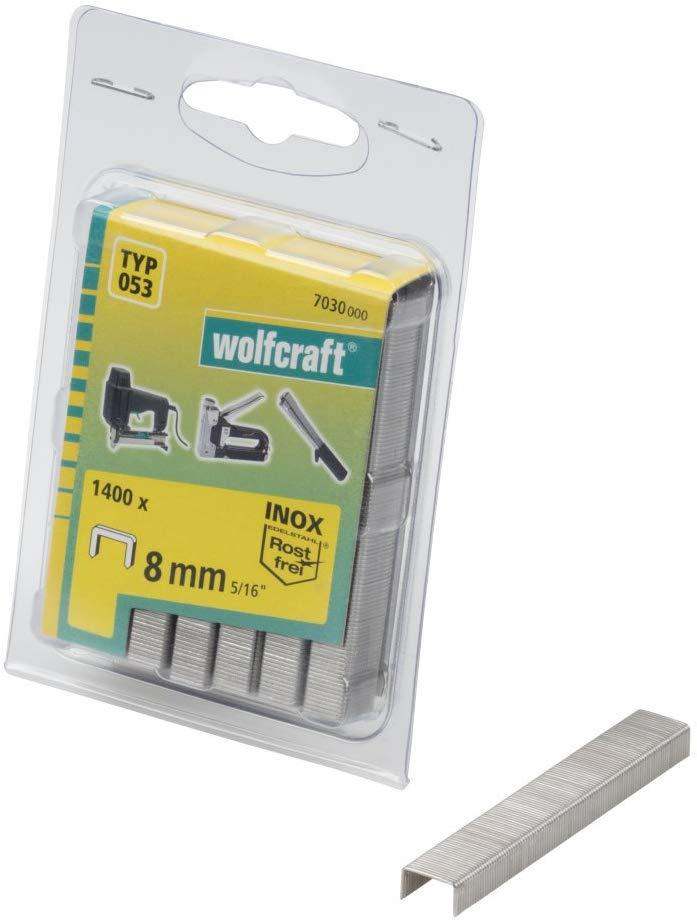 Wolfcraft Široké sponky do sponkovačky výška 8 mm 1400 ks 7030000