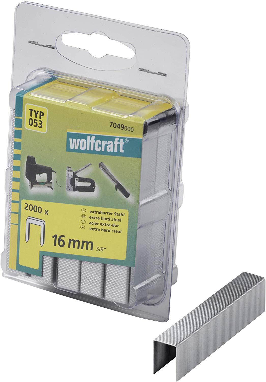 Wolfcraft Široké sponky do sponkovačky výška 16 mm 2000 ks 7049000
