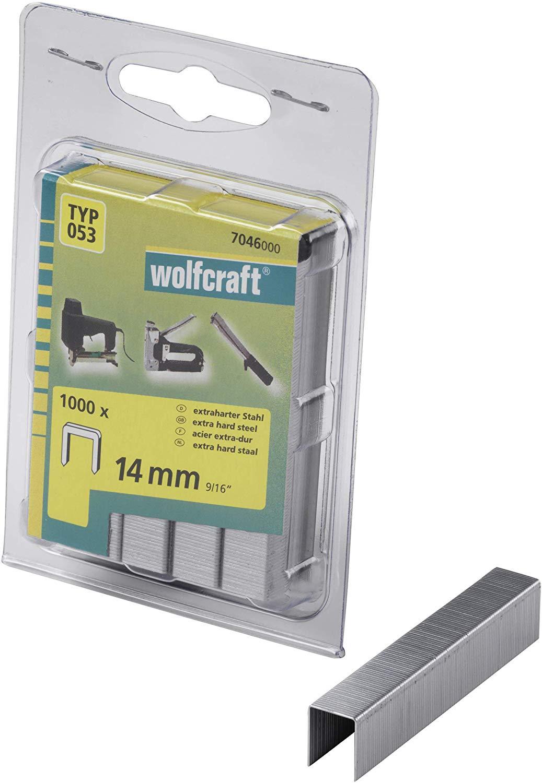 Wolfcraft Široké sponky do sponkovačky výška 14 mm 1000 ks 7046000