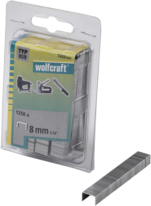 Wolfcraft Široké sponky do sponkovačky výška 8 mm 1250 ks 7203000