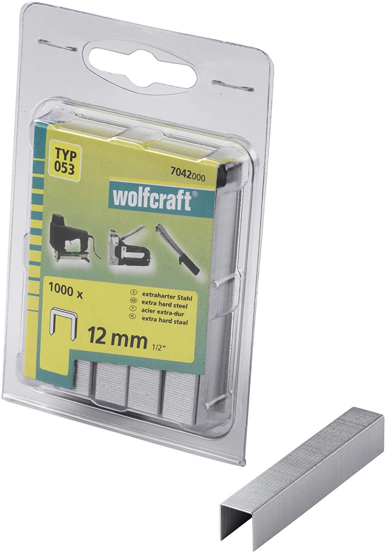 Wolfcraft Široké sponky do sponkovačky výška 12 mm 1000 ks 7042000