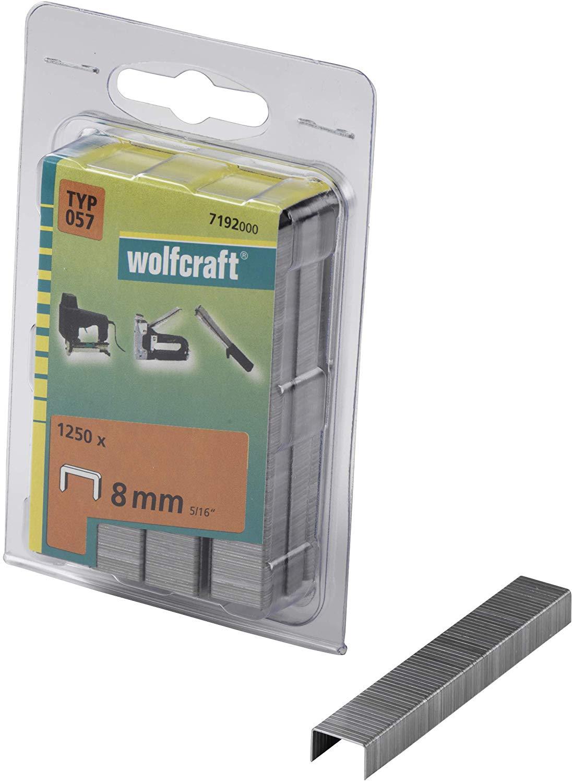 Wolfcraft Široké sponky do sponkovačky výška 8 mm 1250 ks 7192000