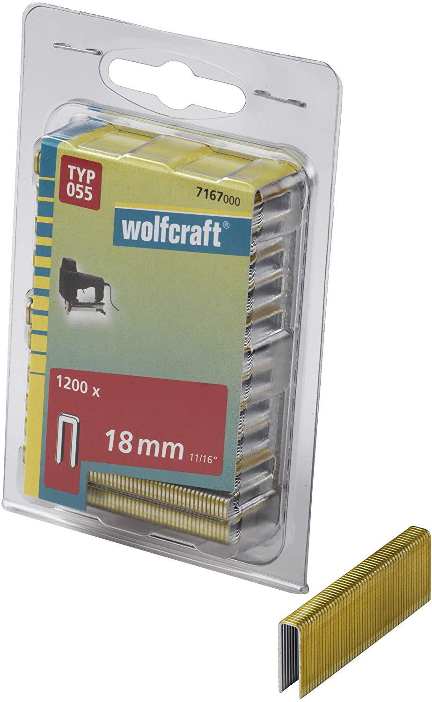 Wolfcraft Úzke sponky do sponkovačky výška 18 mm 1200 ks 7167000
