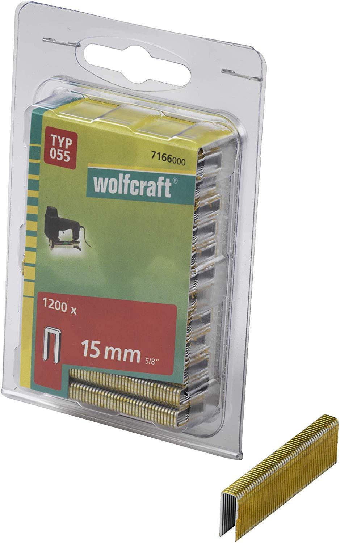 Wolfcraft Úzke sponky do sponkovačky výška 15 mm 1200 ks 7166000