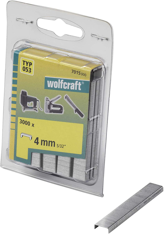 Wolfcraft Široké sponky do sponkovačky výška 4 mm 3000 ks 7015000