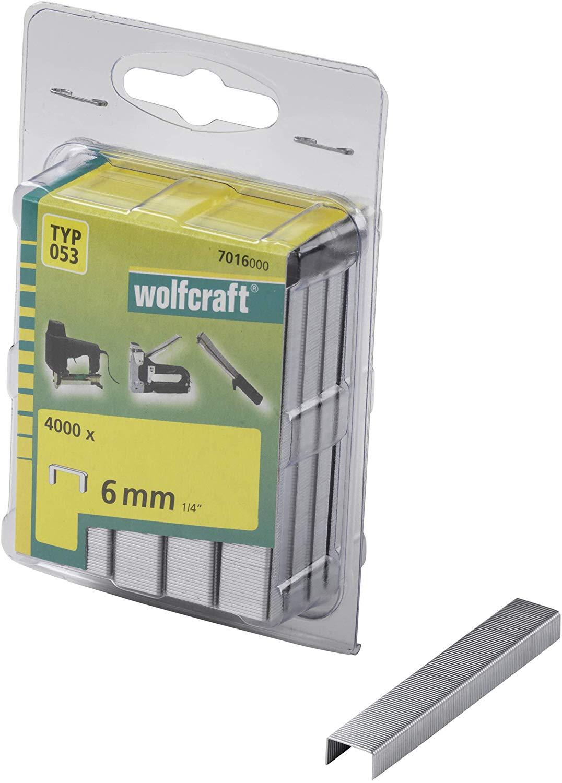 Wolfcraft Široké sponky do sponkovačky výška 6 mm 4000 ks 7016000