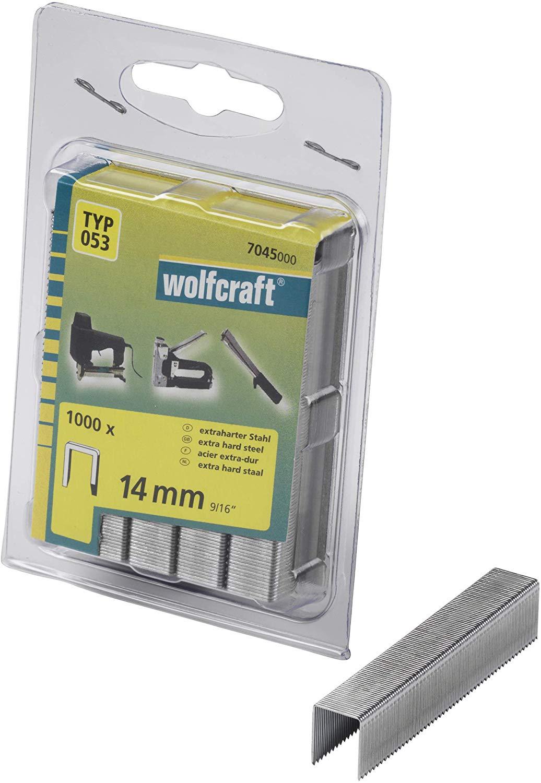 Wolfcraft Široké sponky do sponkovačky výška 14 mm 1000 ks 7045000