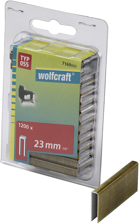 Wolfcraft Úzke sponky do sponkovačky výška 23 mm 1200 ks 7169000
