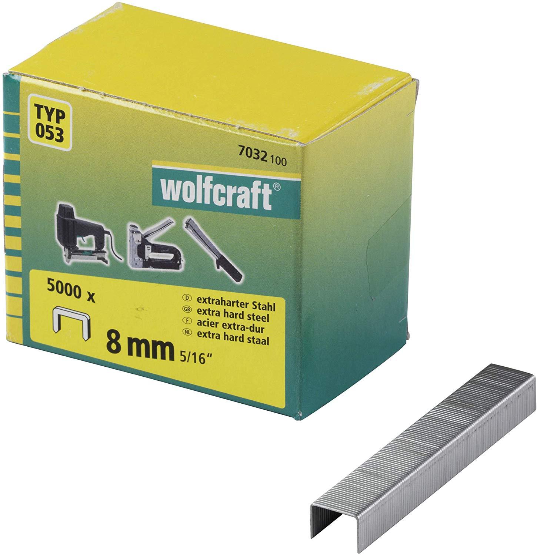 Wolfcraft Široké sponky do sponkovačky výška 8 mm 5000 ks 7032100