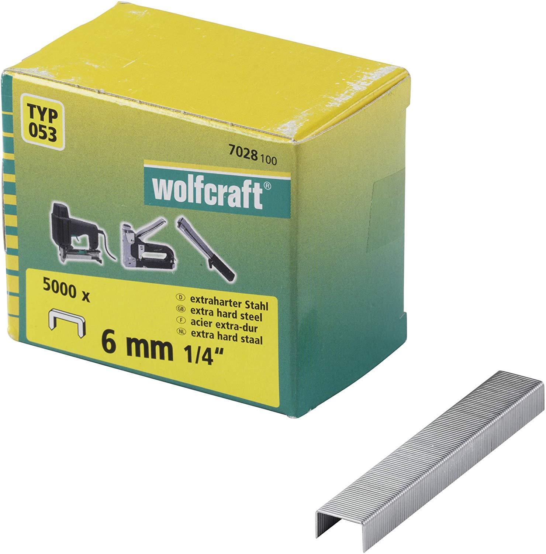 Wolfcraft Široké sponky do sponkovačky výška 6 mm 5000 ks 7028100