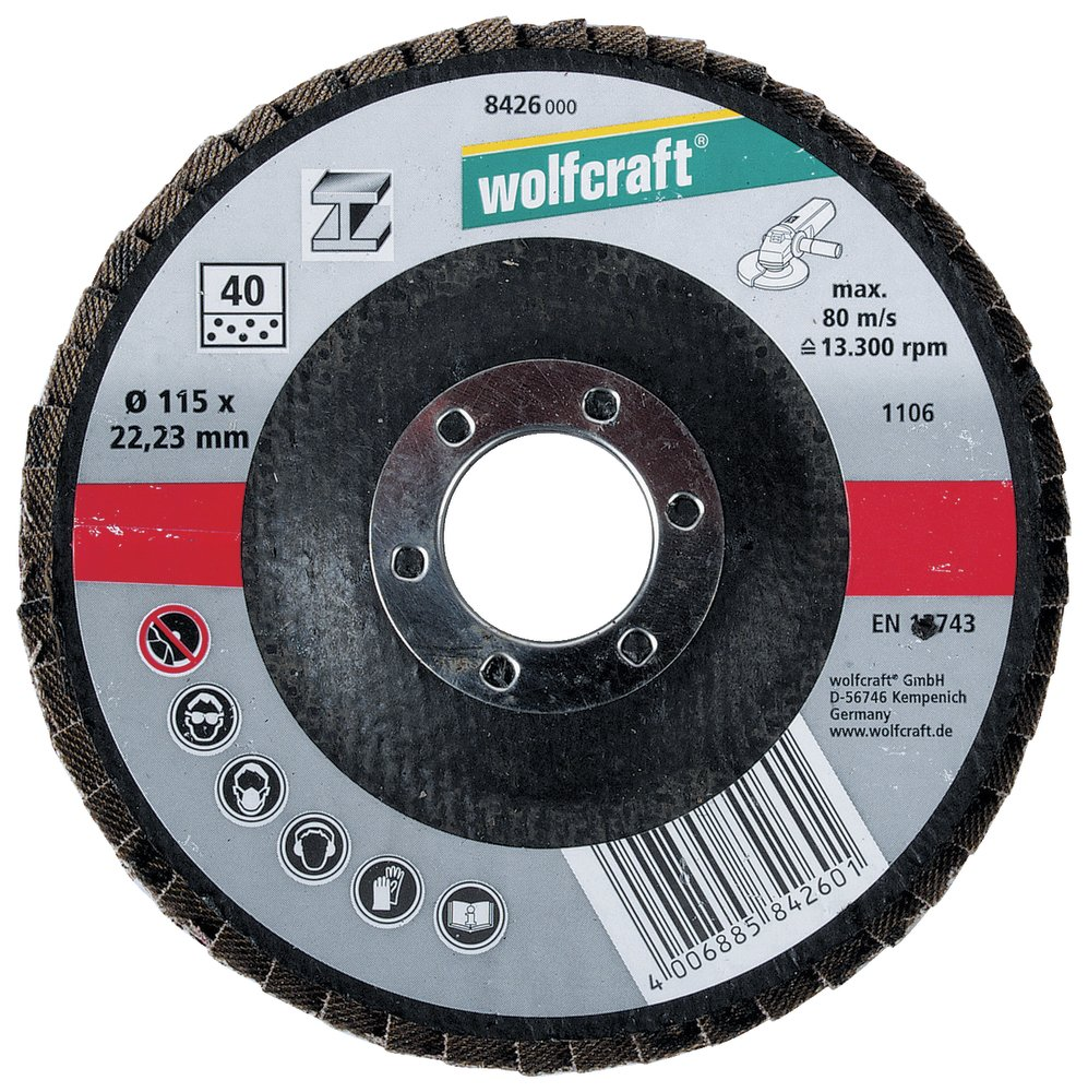 Wolfcraft lamelový brúsny tanier zrno 40, ø 125 mm 8425000