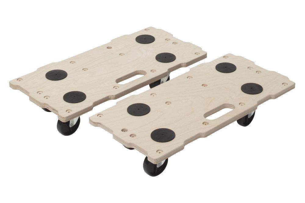 Wolfcraft 2 x FT 400 - sťahovacie vozíky Puzzle Boards 5543000